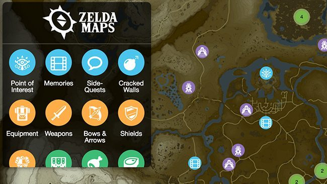 Zelda Breath of the Wild map Nintendo Switch