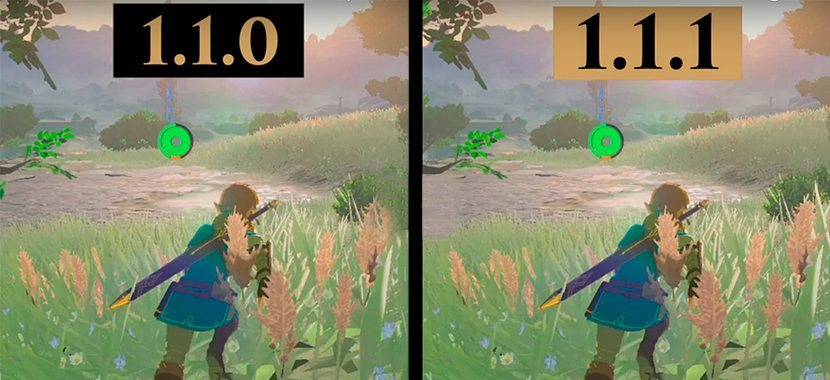 Zelda Breath of the Wild Update 1.1.1