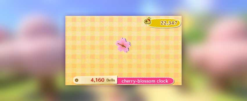 Animal Crossing Cherry Blossom Clock
