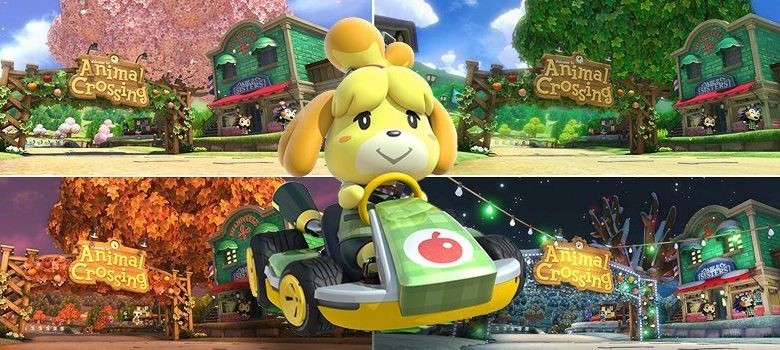 Mario Kart 8 Deluxe Choose The Season In The Animal Crossing Track Mypotatogames
