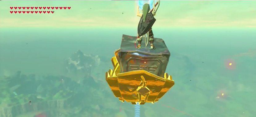 Zelda: Breath of Wild flying Link