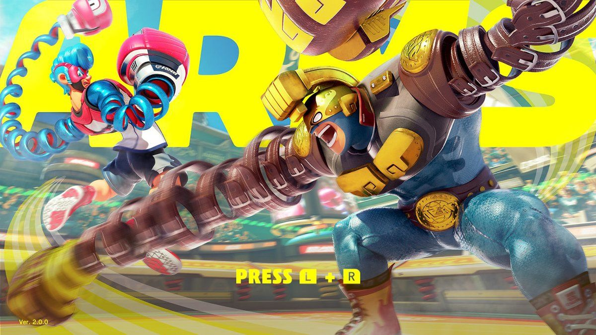 Arms 2.0.0 Title Screen