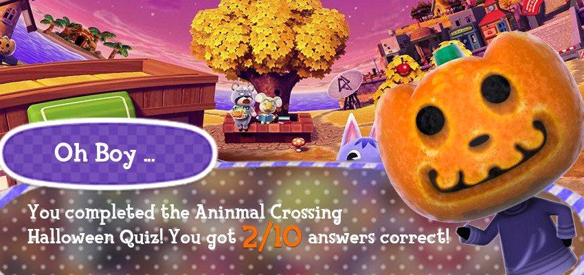 Animal Crossing Halloween Quiz   My Potato Games