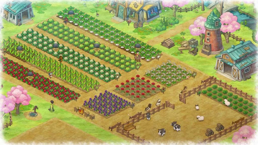 Doraemon Story of Seasons farm crops