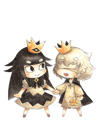 Liar Princess and the Blind Prince...the prince and princess hold hands.