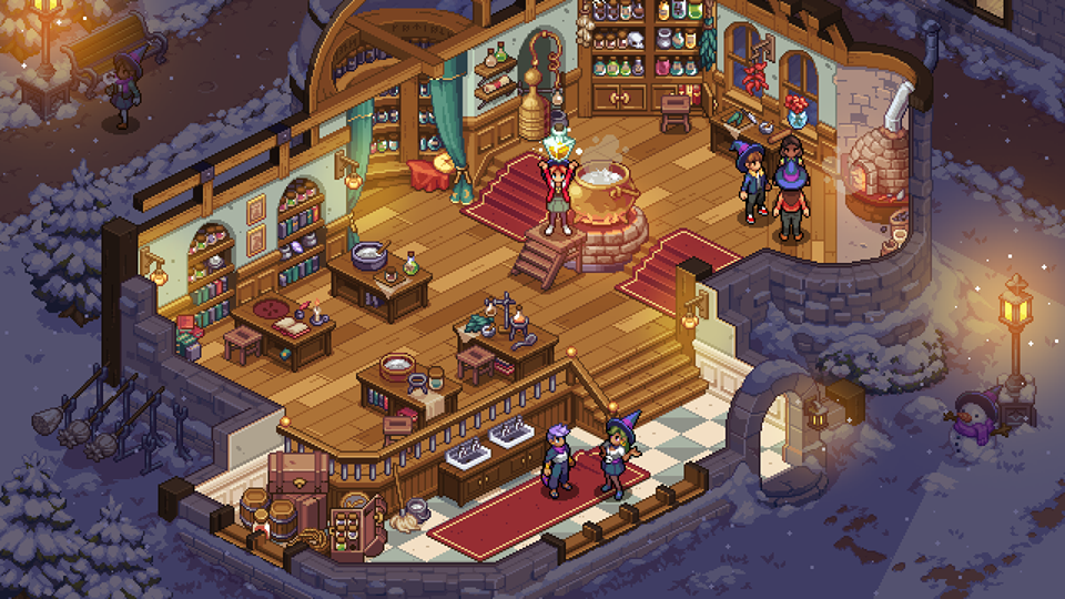 Witchbrook magic school game