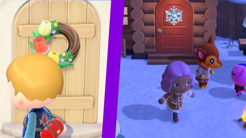 Animal Crossing new horizons wreath