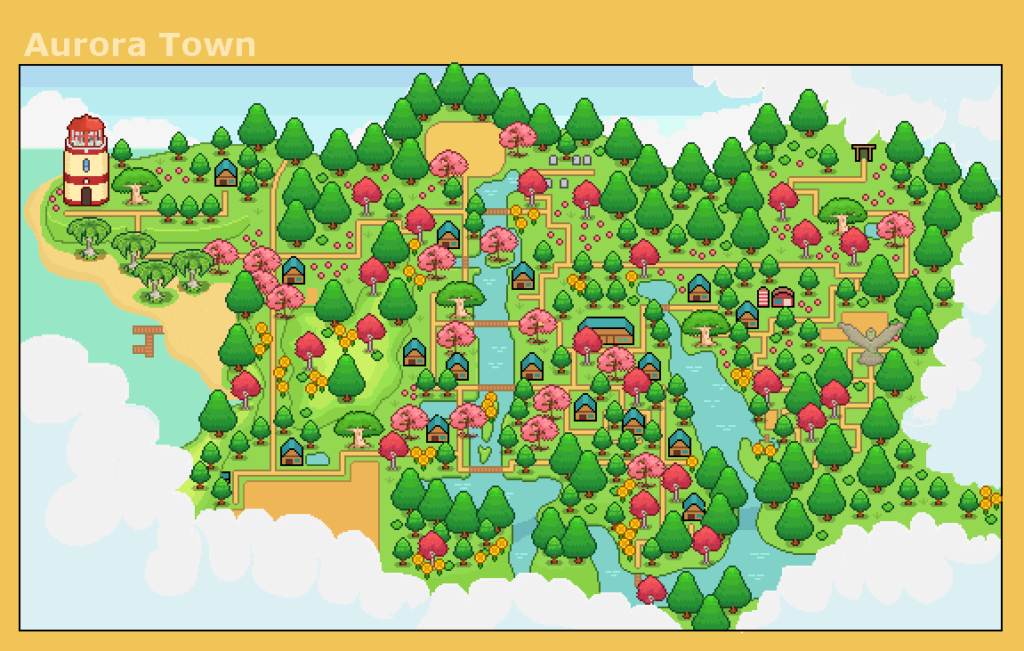 Peaceful Days Town Map