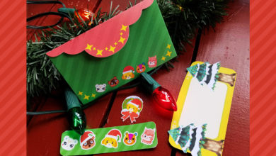 Photo of Animal Crossing Themed Holiday Card Set