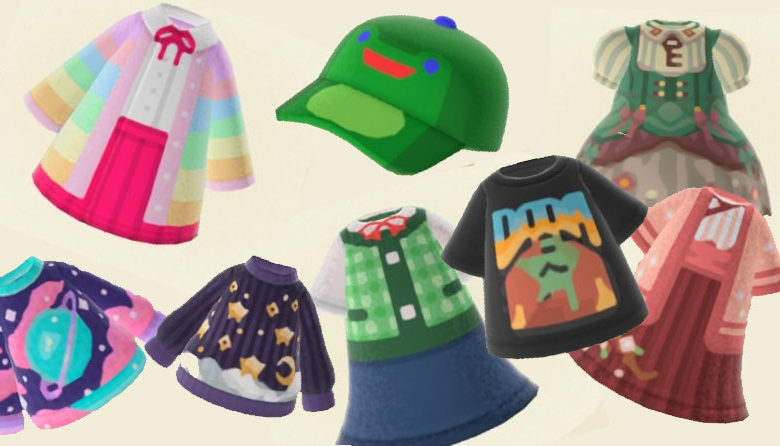 new hoirzons animal crossing custom clothing