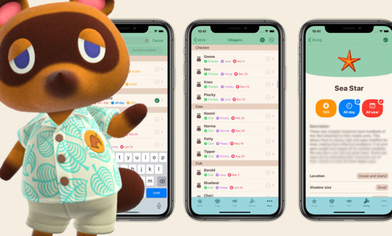 animal crossing new horizons companion app