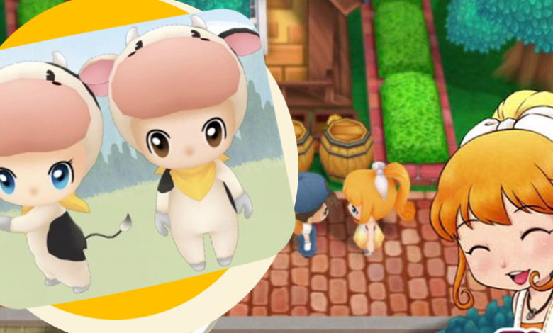 story of seasons friends of mineral town cow costume