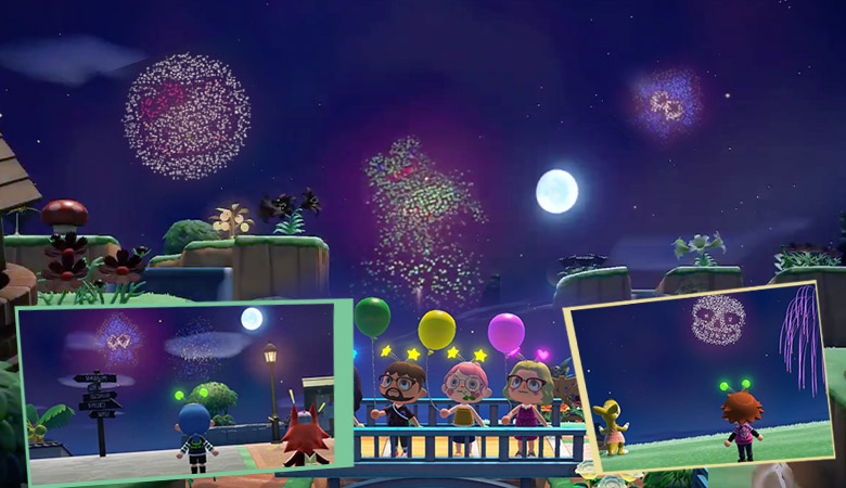 animal crossing new horizons fireworks