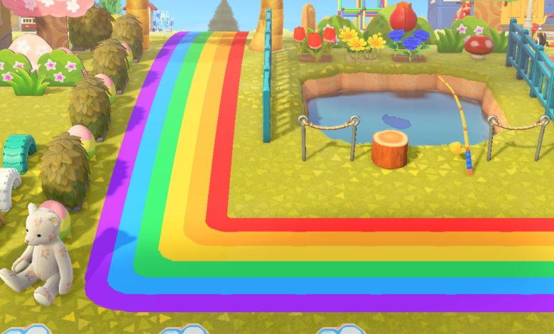 animal crossing new horizons rainbow path