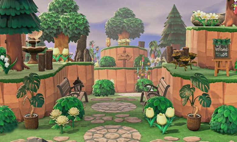 animal crossing new horizons entrance layouts