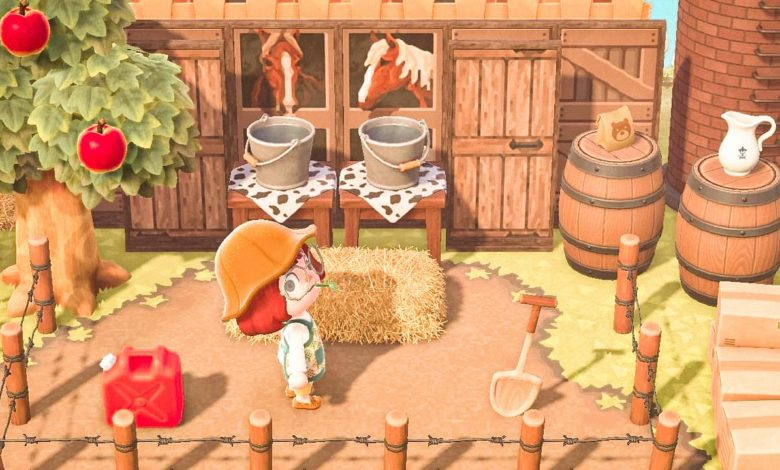 animal crossing new horizons horse stall