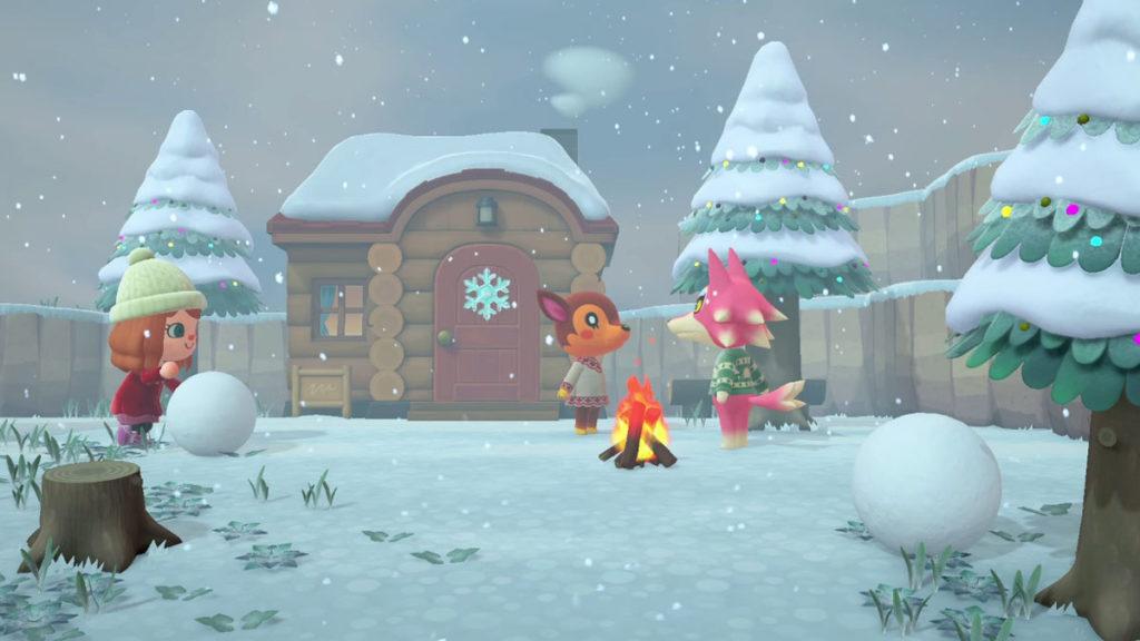 animal crossing new horizons snow