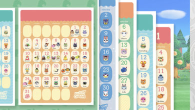 Photo of Nintendo Releases Official Animal Crossing New Horizons Birthday Calendar