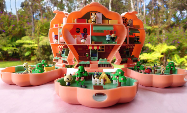 animal crossing and polly pocket inspired village